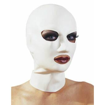 Latex maszk - fehér
