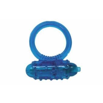 Kék színű, egyszerű vibrációs péniszgyűrű