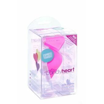 Szív formájú anál plug (pink - RIDE ME felirat)