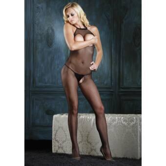 Leg Avenue - Mell résznél és alul nyitott erotikus ruha